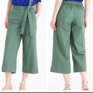J. Crew Tie Waist Culotte Rory Pant Size 10